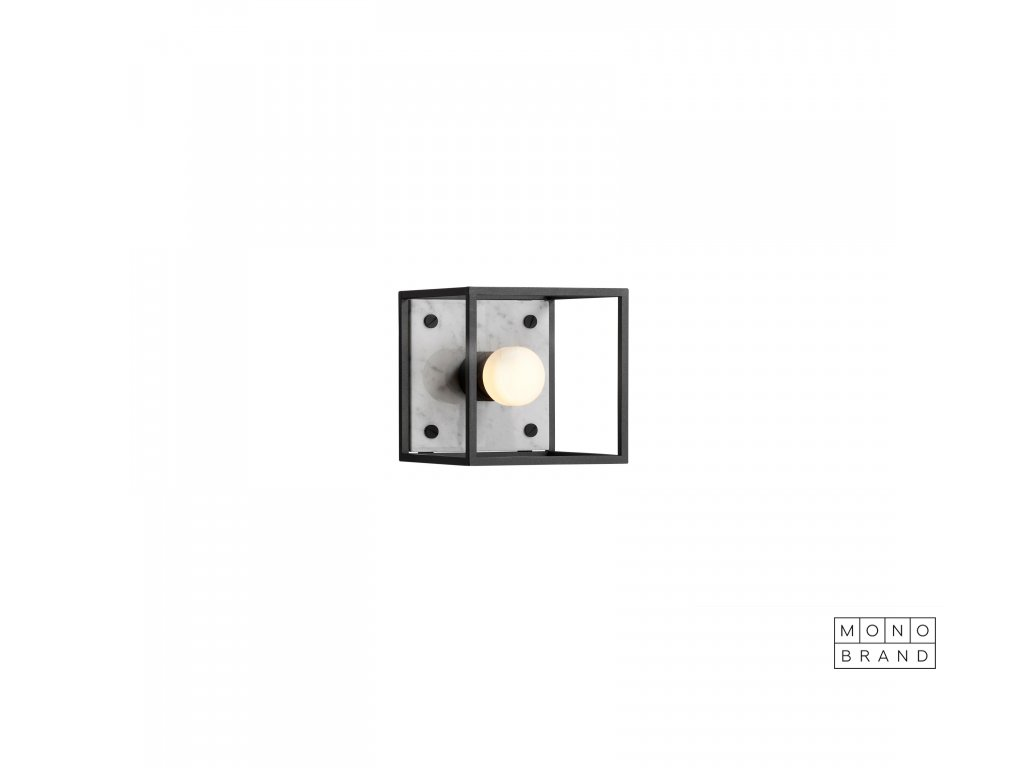CAGED wall 1.0 SMALL Polished White Marblecut out