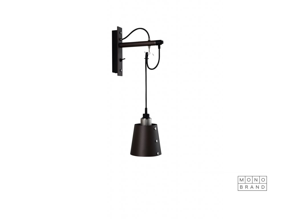 Hooked wall small graphite brass 01