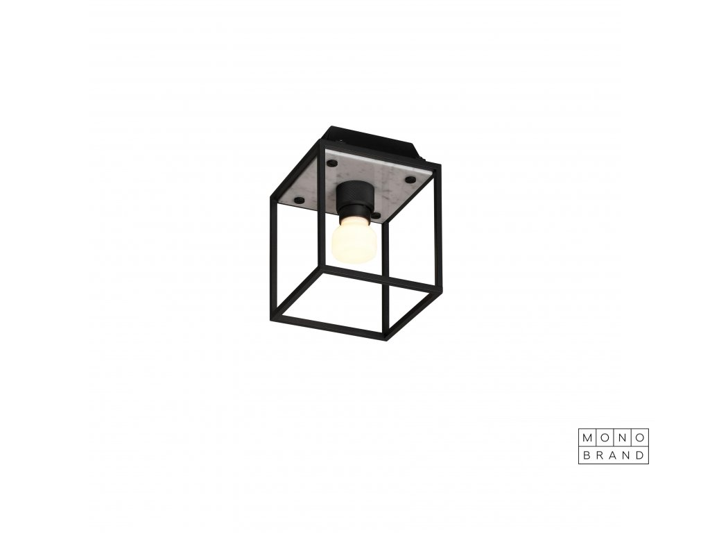 1. Caged Ceiling Small White Marble cut out