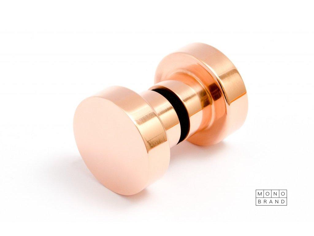 dot glas door knob 30 polished copper