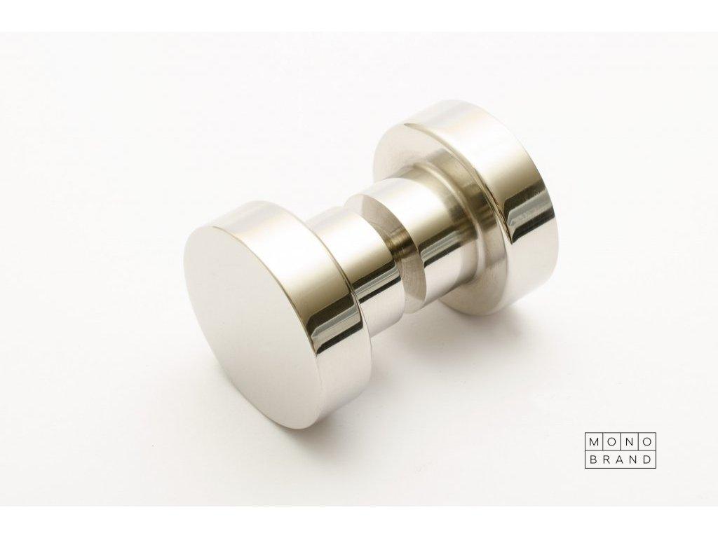 dot glas door knob 30 polished stainless steel