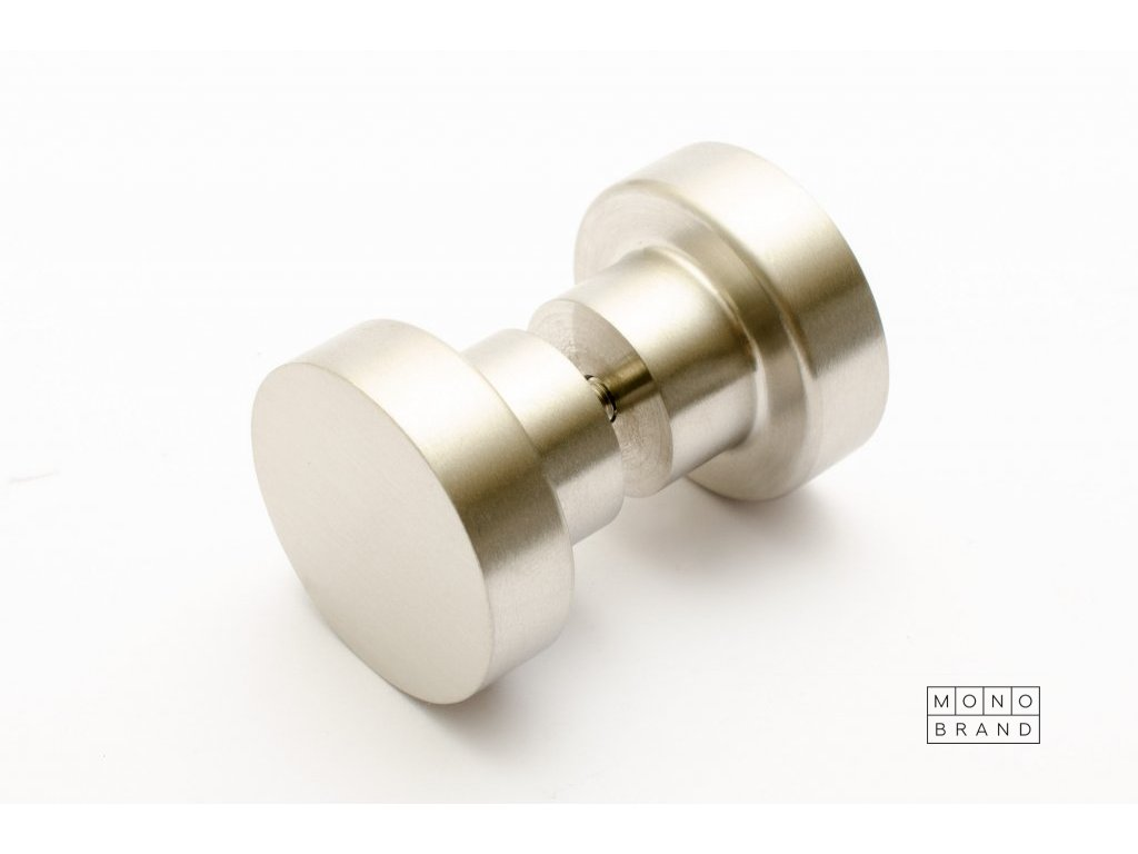 dot glas door knob 30 brushed stainless steel