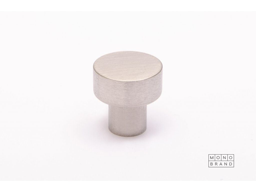 dot 18 knob brushed stainless steel