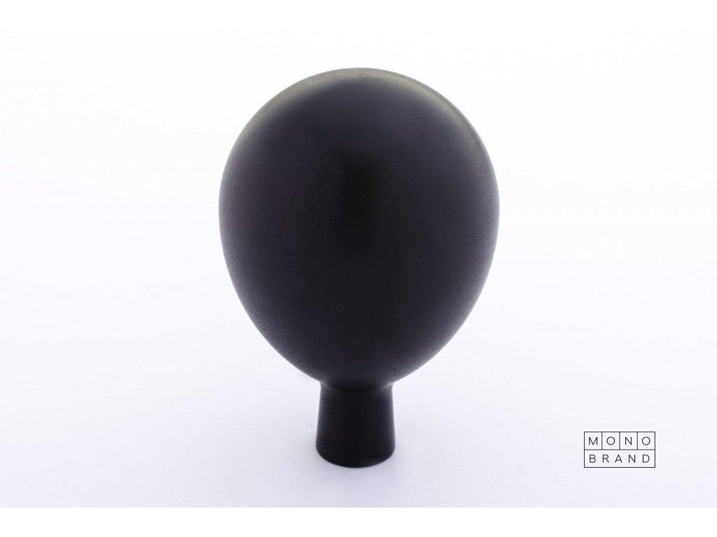 drop 32 knob hook black alumunium