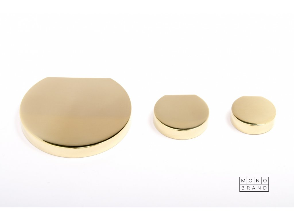 globe 35 knob polished brass
