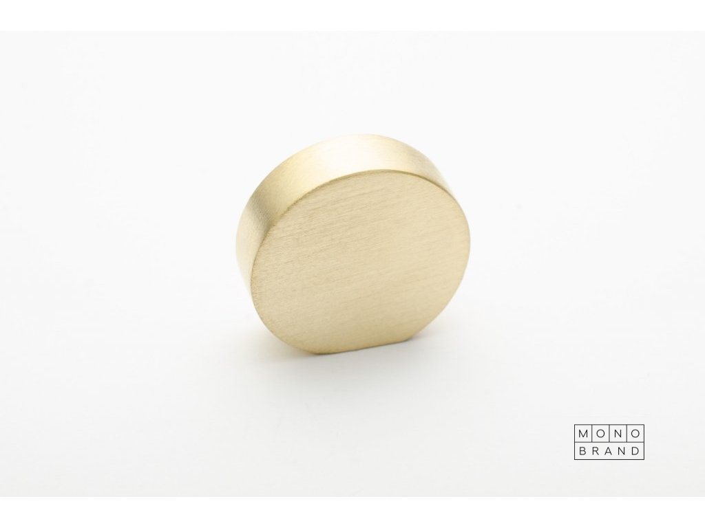 globe 20 knob brushed brass
