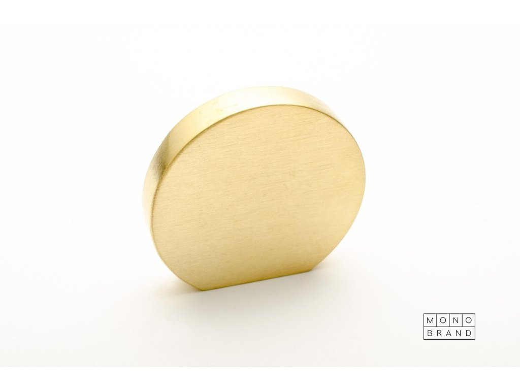 globe 35 knob brushed brass