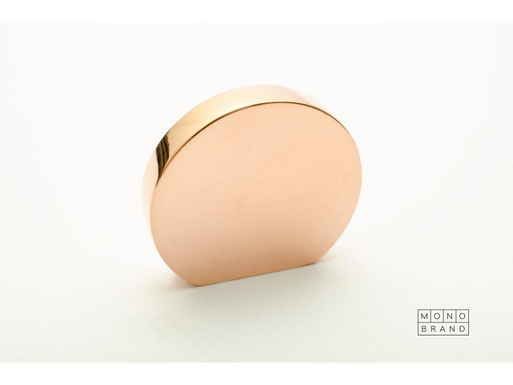 globe 35 knob polished copper