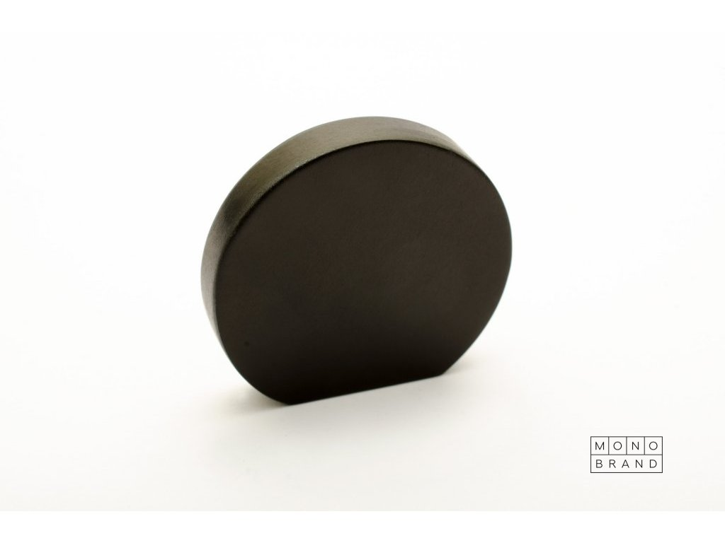 globe 35 knob black aluminium