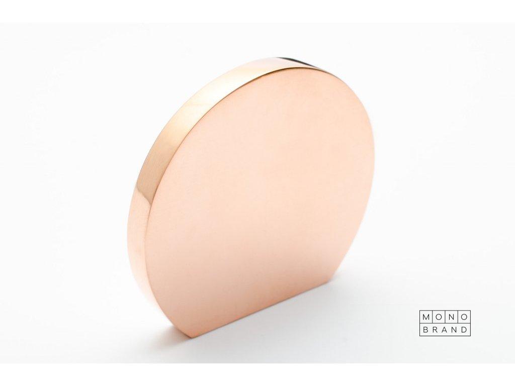 globe 50 knob polished copper