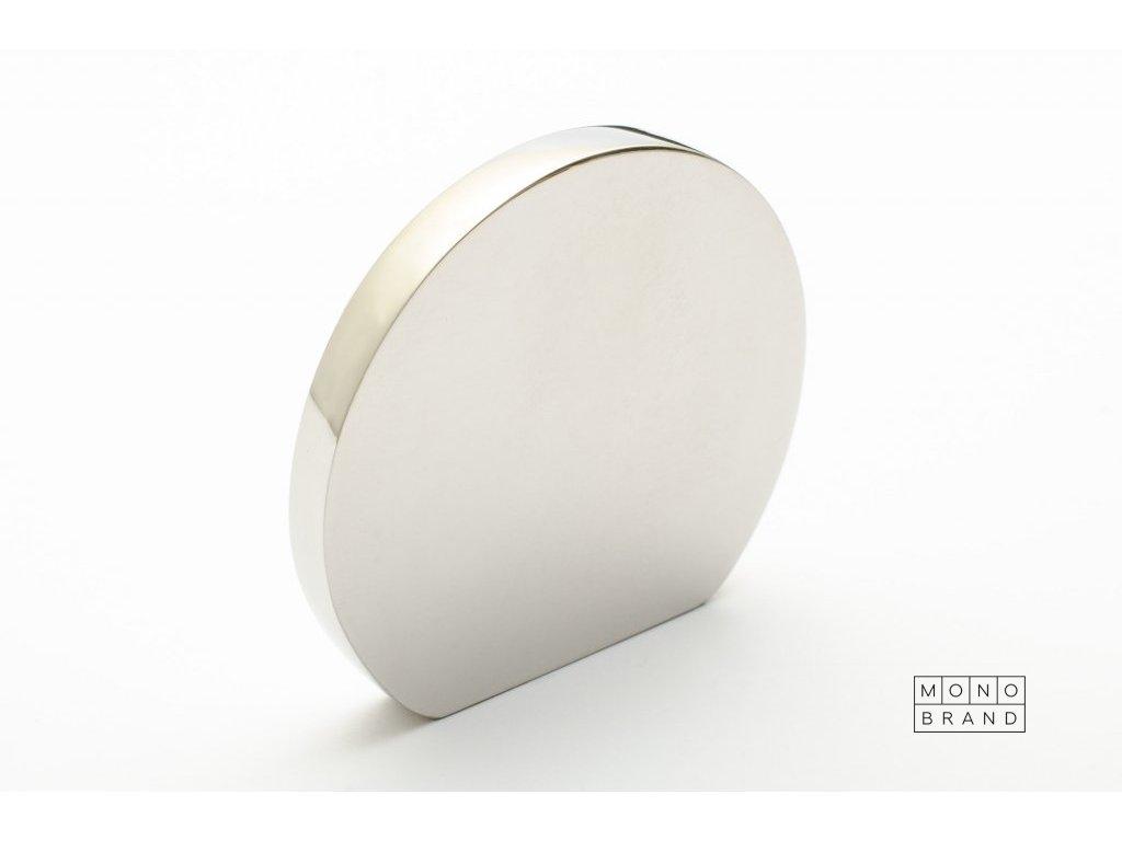 globe 50 knob polished stainless steel