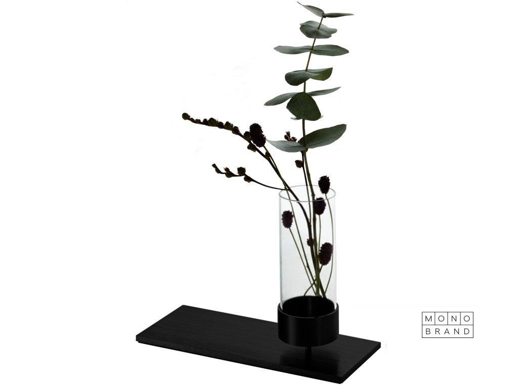 Machined Vase Black