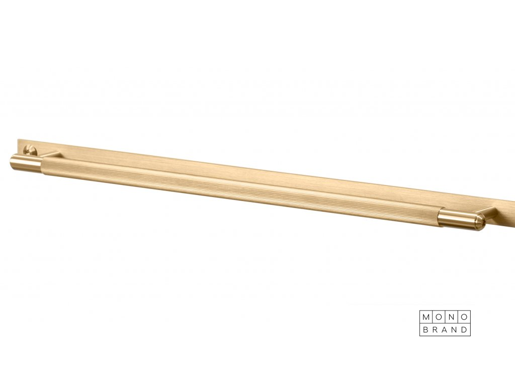Linear Pull Bar Plate Large Brass
