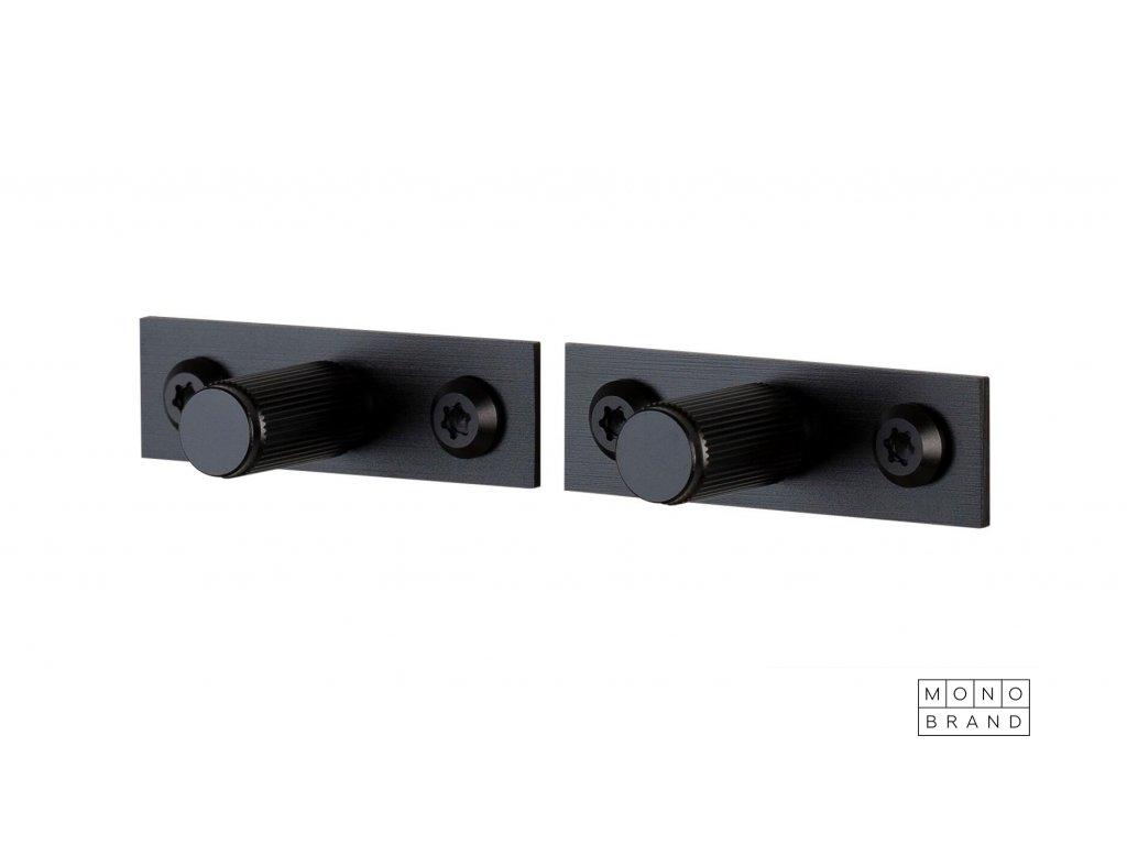 Linear Knob Plate Black