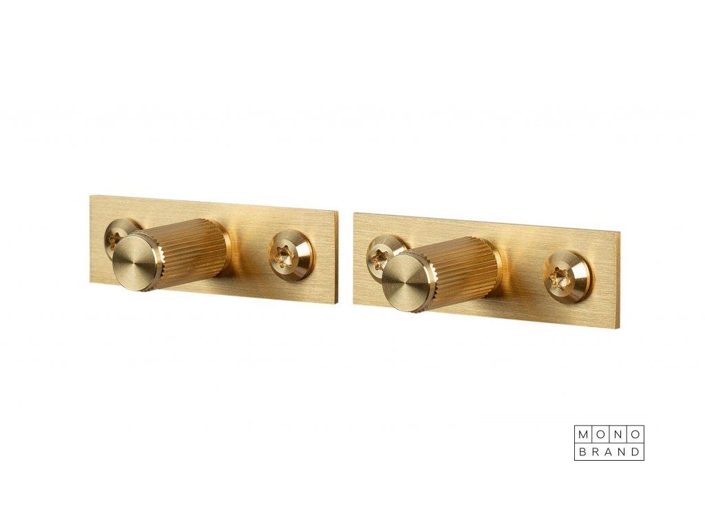 Linear Knob Plate Brass