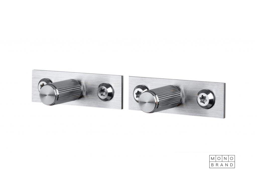 Linear Knob Plate Steel