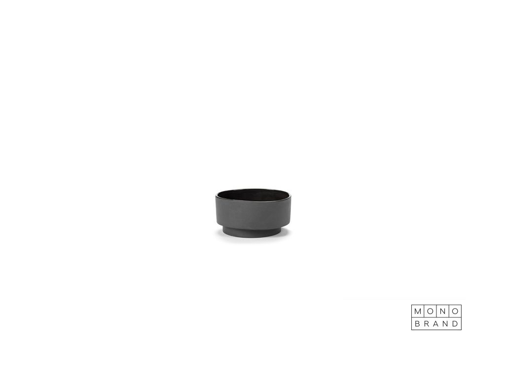 _BOWL (4ks) (Barva - varianty Šedá, Materiályy Keramika, Velikostt 6,9 x 13,9 cm)