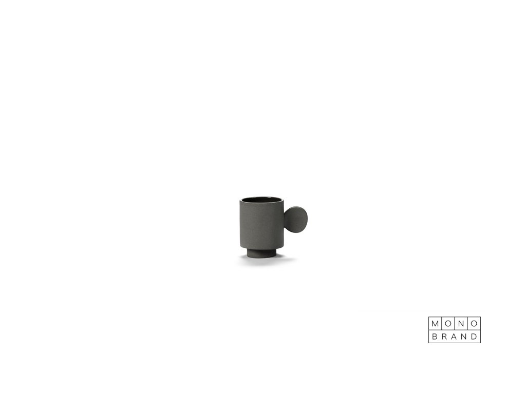 _ESPRESSO CUP (8ks) (Barva - varianty Mix - 4x Šedá / 4x Tmavě šedá)