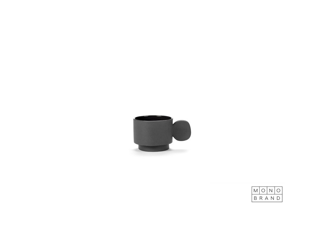 _CUP (8ks) (Barva - varianty Tmavě šedá, Materiályy Keramika)