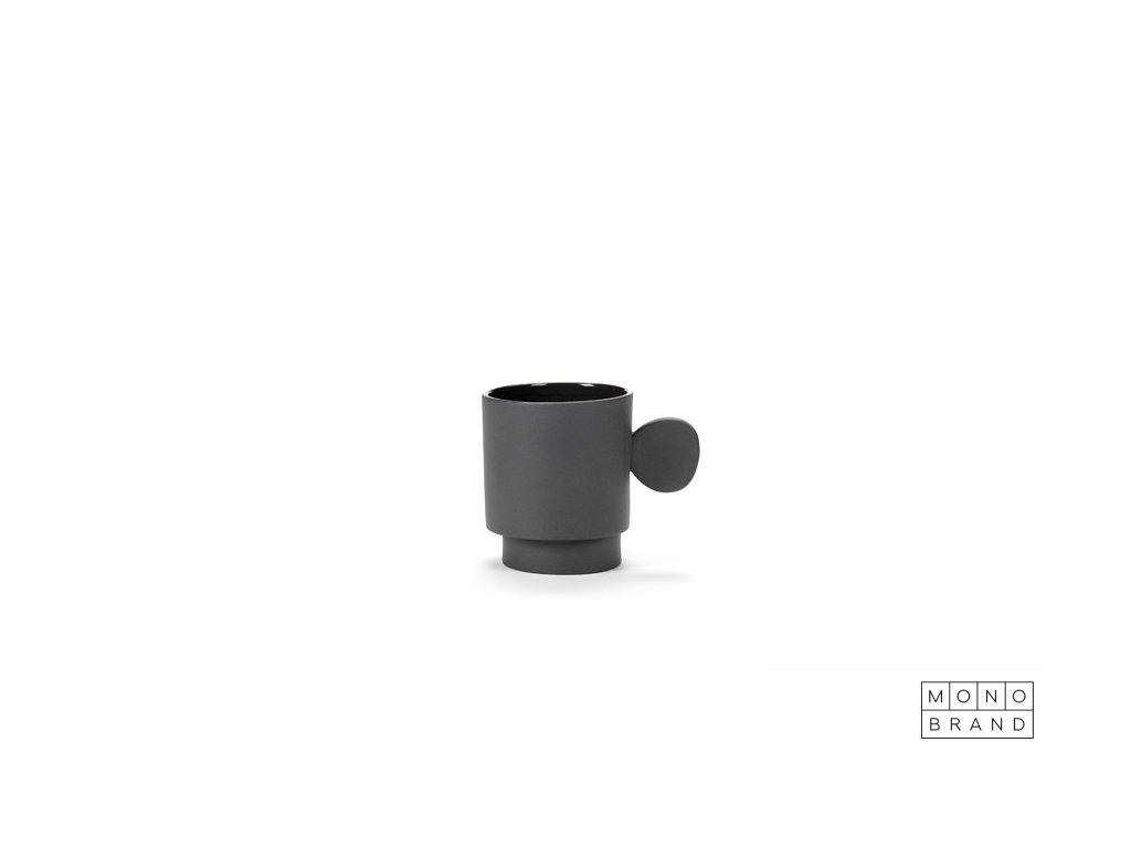 _MUG (8ks) (Barva - varianty Tmavě šedá, Materiályy Keramika)