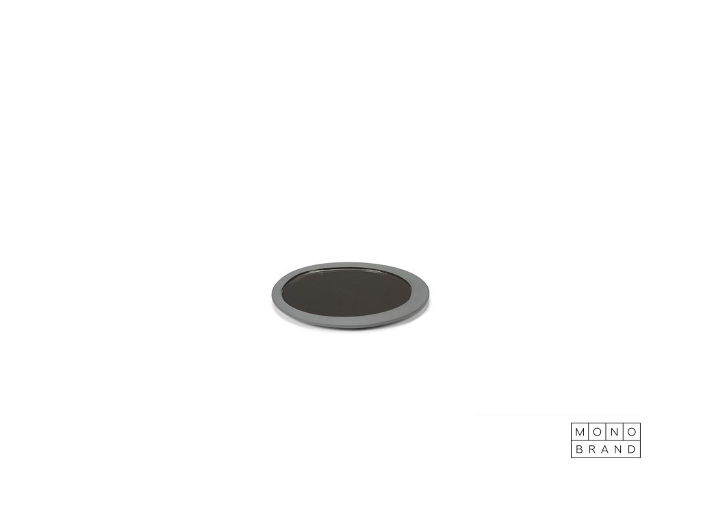 _PLATE (Barva - varianty Šedá, Materiályy Keramika, Velikostt S - 1 x 21,9 cm)