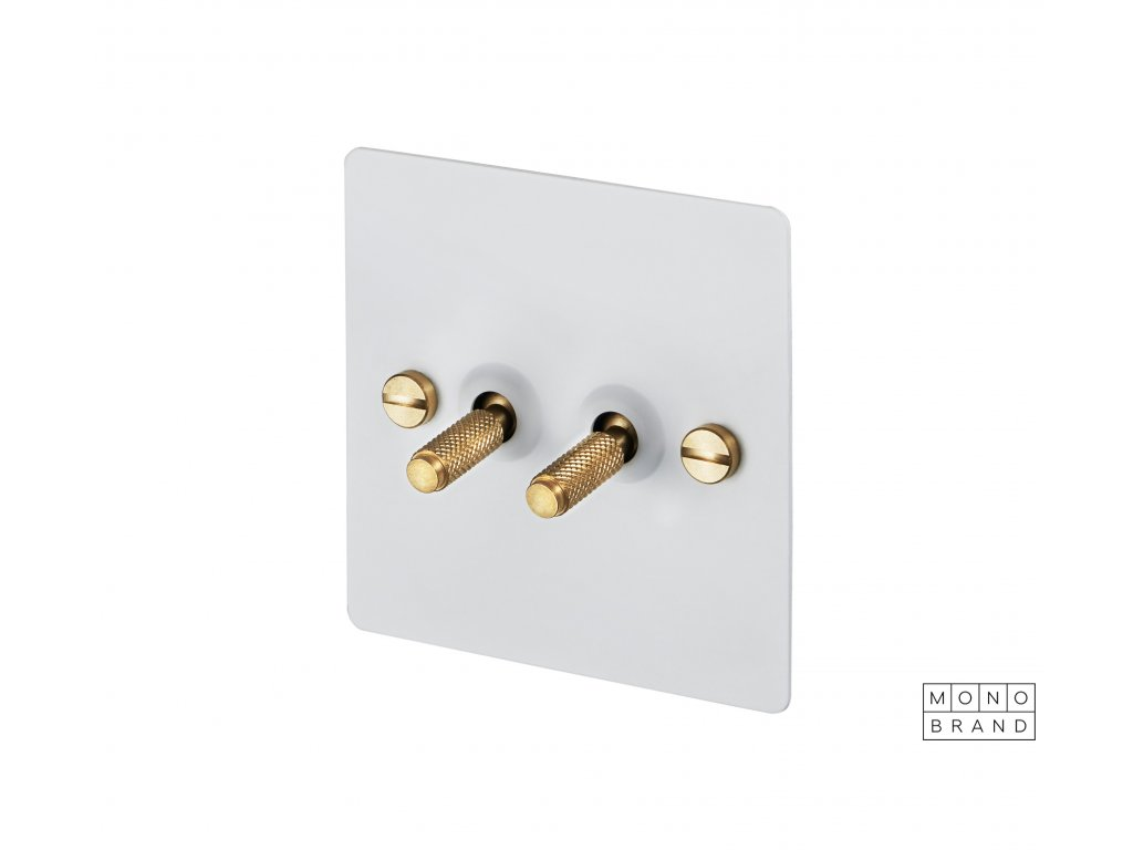 WHITE & BRASS 2S Buster & Punch Cut Out