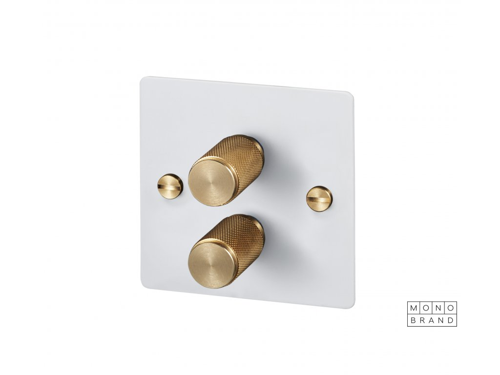 WHITE & BRASS 2D Buster & Punch Cut Out