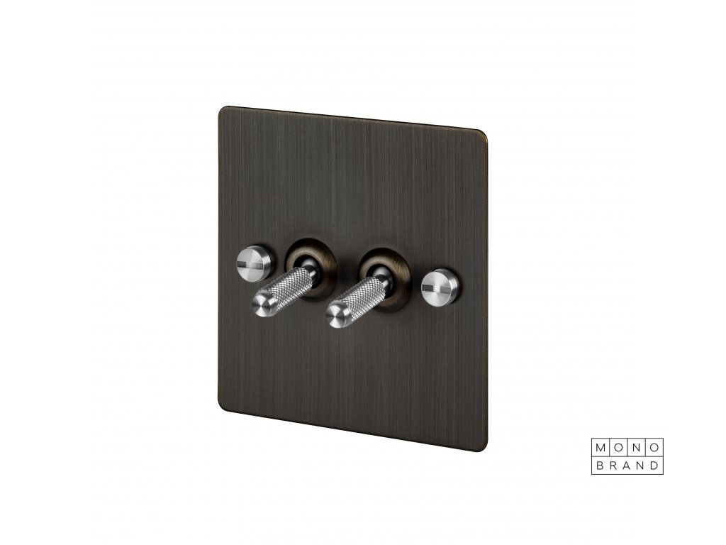Toggles Dimmers Side Cut Outs 0000s 0003 2G Smoked Bronze Steel