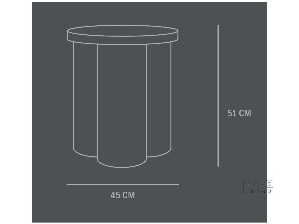 211003 BigFoot SideTable Tall Coffee grande