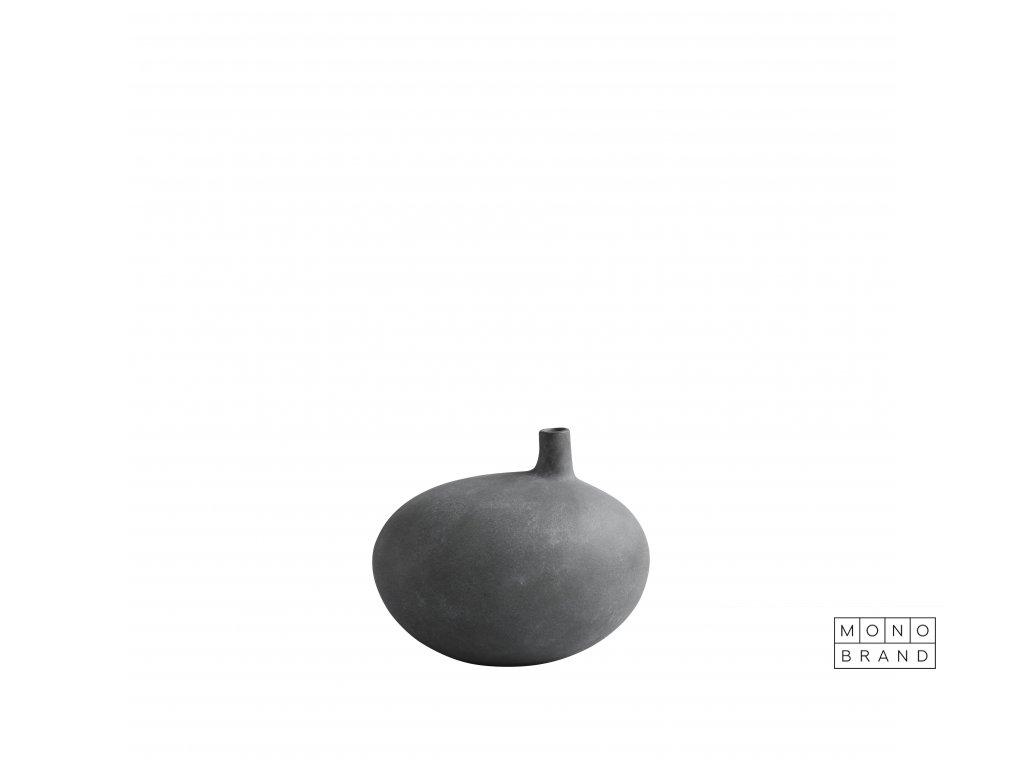 011288 submarine vase small dark grey white packshot