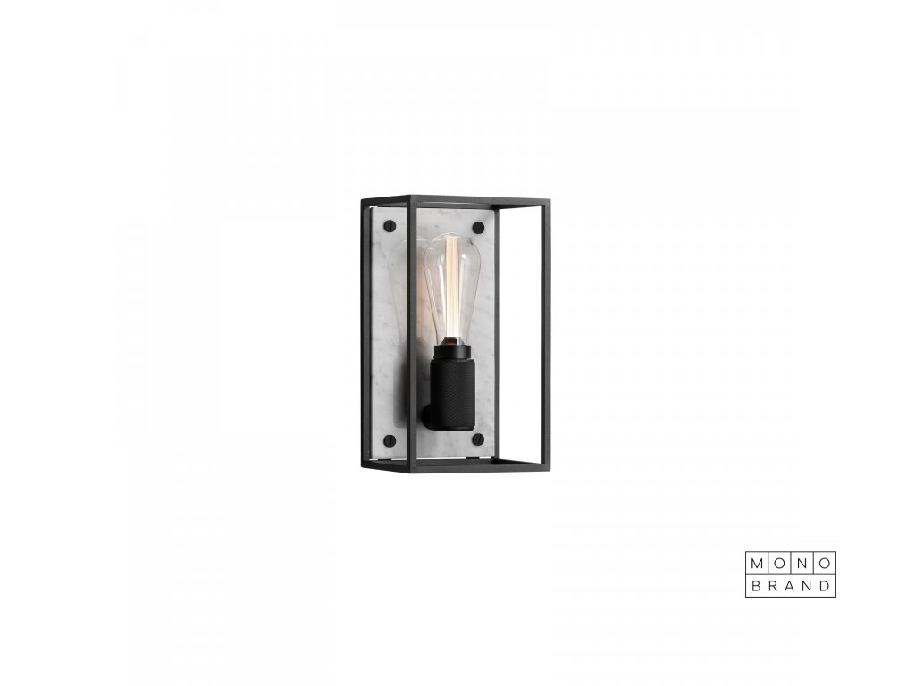 Buster & Punch CAGED wall light 1.0 MEDIUM Polished White Marble