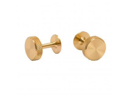 Cufflink brass cut out