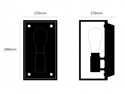 buster punch caged wall light 1.0 medium new black marble web 1