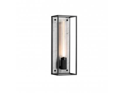 CAGED wall light 1.0 LARGE Polished White Marble