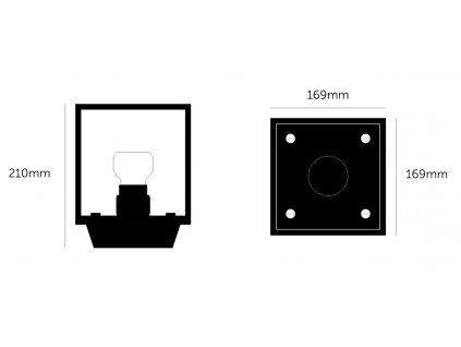 buster punch caged ceiling light 1.0 small black marble web 1