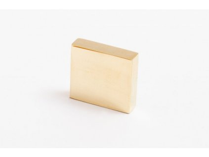 clean cut knob brushed brass 55094