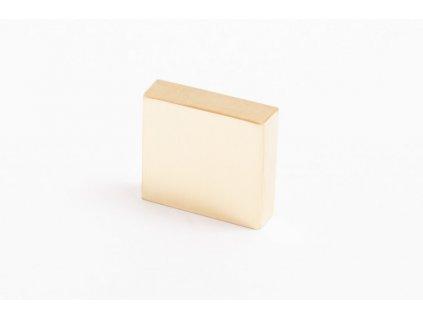 clean cut knob polished brass 24930
