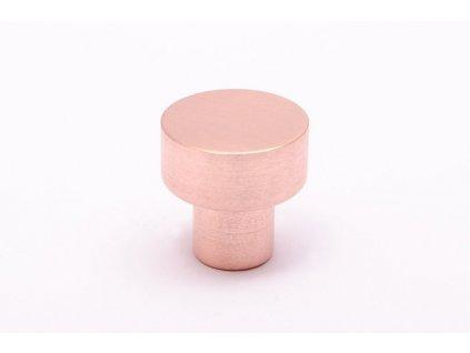 dot 18 knob brushed copper