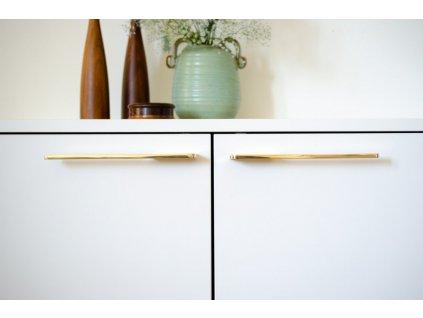 soft cut handle polished brass 2