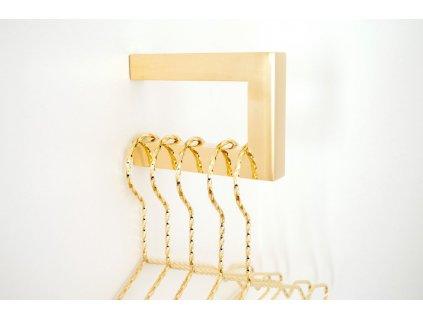 square hanger polished brass