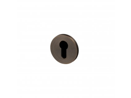 Escutcheon plate euro cylinder smoked bronze cut out