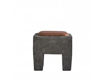 111154 111155 Sculpt Stool Concrete with Cushion 1 2 800x