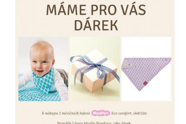 2x mega pack Eco Comfort + bryndák Lässig Muslin Bandana
