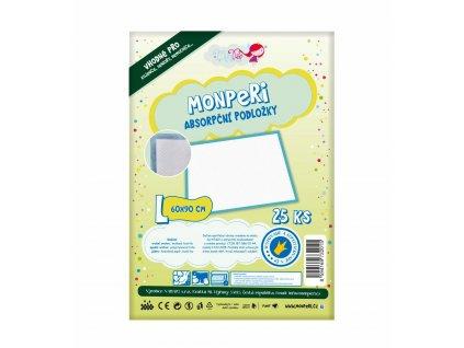 MonPeri EKO Jednorázové přebalovací podložky super dry L 90 × 60 cm 25 ks