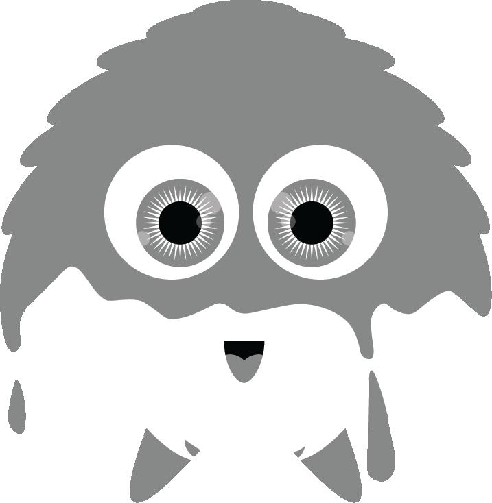 logo monster print maskot