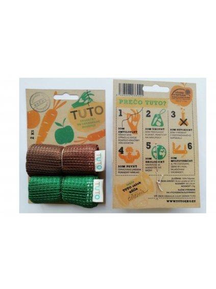 TUTO eko sáčky - zelená a hnedá