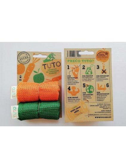 TUTO eko sáčky - oranžova a zelená