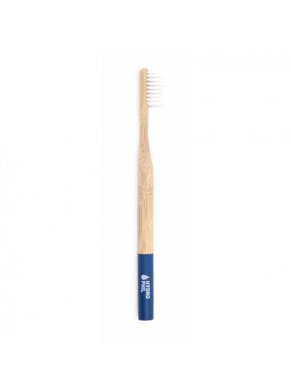 bambusova zubna kefka soft modra