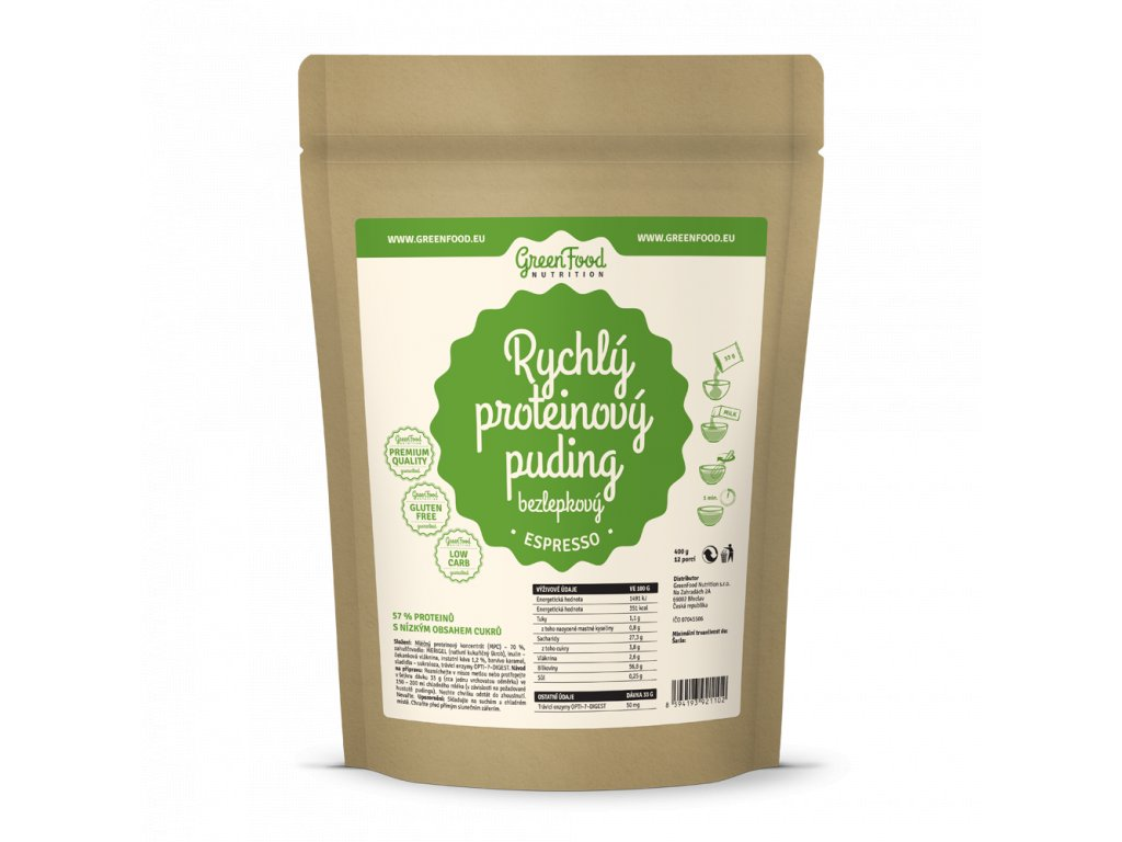 greenfood nutrition rychly proteinovy puding bezlepkovy espresso2