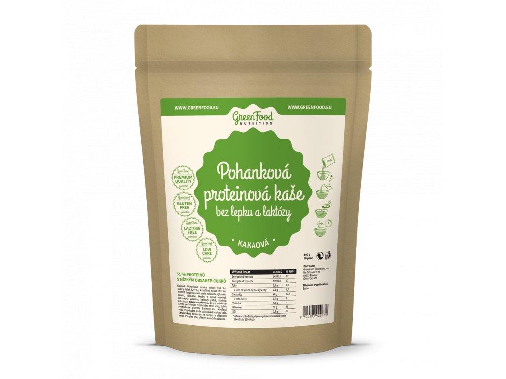 greenfood nutrition pohankova proteinova kase bez lepku a laktozy kakaova